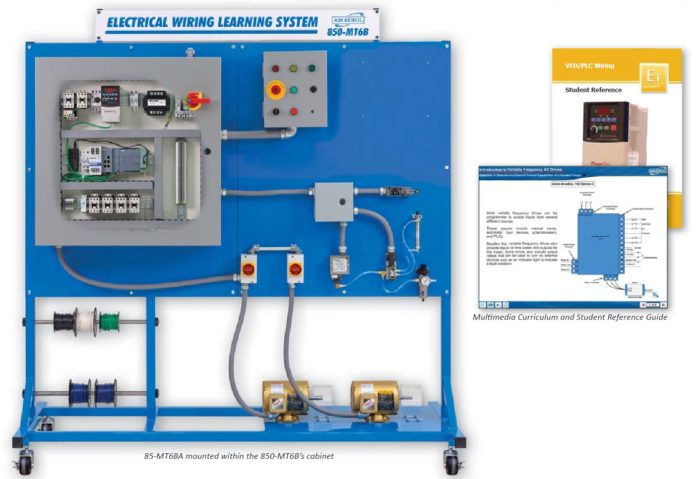 vfd wiring and plc wiring electrical wiring training amatrol rh amatrol com Lathe VFD Schematic vfd panel wiring diagram pdf